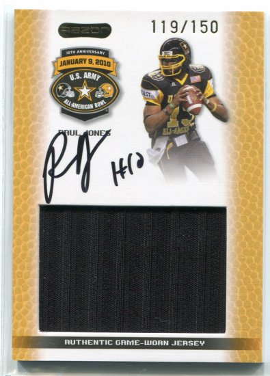 PAUL JONES 2010 Razor AUTO JERSEY Penn State Nittany Lions 5-star QB #/150 comes with COA