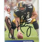 JEFF HARTINGS Athletes in Action AUTO Autograph STEELERS Penn State Nittany Lions comes with COA
