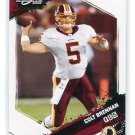 COLT BRENNAN 2009 Score Inscriptions #294 Redskins HAWAII Warriors QB