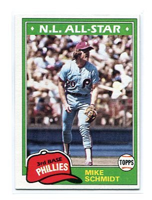 MIKE SCHMIDT 1981 Topps AS #540 Phillies