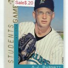 A.J. AJ BURNETT 2000 Topps Gallery #127 ROOKIE New York NY Yankees