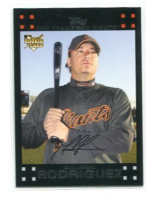 GUILLERMO RODRIGUEZ 2007 Topps Update #UH194 ROOKIE