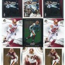 $.05 SALE:   (9) SANTANA MOSS lot Redskins MIAMI HURRICANES Canes
