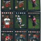 (9) 2008 Topps Chrome Football ROOKIE SALE lot #3
