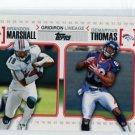 BRANDON MARSHALL DEMARYIUS THOMAS 2010 Topps Gridiron Lineage INSERT ROOKIE Broncos GEORGIA TECH