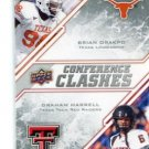 BRIAN ORAKPO & GRAHAM HARRELL 2009 UD Draft Edition #261 ROOKIE Texas LONGHORNS Tech RED RAIDERS QB