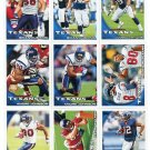 (9) Houston TEXANS New 2010 Topps TEAM LOT Stars