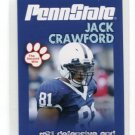JACK CRAWFORD 2010 Penn State Second Mile College Card RAIDERS Dallas Cowboys