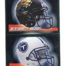 JACKSONVILLE JAGUARS / TENNESSEE TITANS Football Helmet 2010 Panini Sticker #13