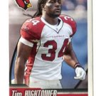 TIM HIGHTOWER 2010 Panini Sticker #477 Arizona Cardinals