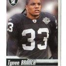 TYVON BRANCH 2010 Panini Sticker #259 Raiders UCONN