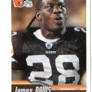 JAMES DAVIS 2010 Panini Sticker #128 Browns CLEMSON Tigers