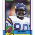 CRIS CARTER 1990 Topps Traded  #19T Vikings OHIO STATE Buckeyes