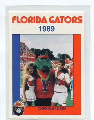 ALBERT with CHEERLEADERS 1989 Florida Gators Police Set card