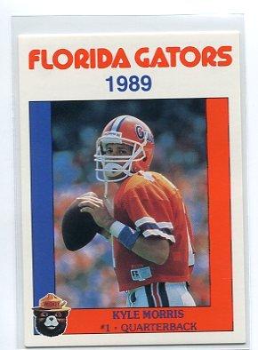 KYLE MORRIS 1989 Florida Gators Police Set card QB