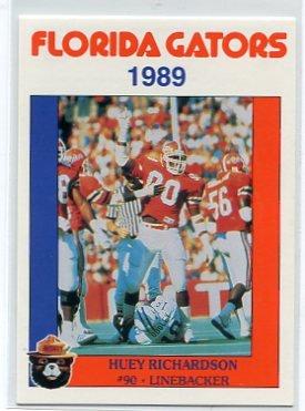HUEY RICHARDSON 1989 Florida Gators Police Set card LB