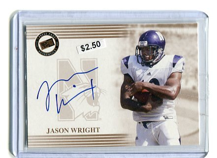 JASON WRIGHT 2004 Press Pass AUTO ROOKIE Northwestern Wildcats