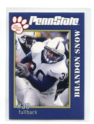 BranDON SNOW 2005 Penn State Second Mile College card PRE-ROOKIE