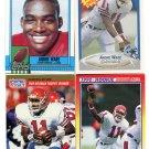 QUARTERBACK SALE:  (4) ANDRE WARE 1990 Rookie lot U of Houston QB 1989 Heisman Winner