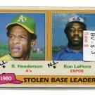RICKEY HENDERSON 1981 Topps #4 Oakland A's