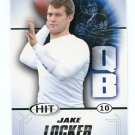 JAKE LOCKER 2011 Sage Hit ROOKIE Washington Huskies TENNESSEE Titans QB