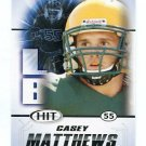 CASEY MATTHEWS 2011 Sage Hit ROOKIE Oregon Ducks PHILADELPHIA Eagles