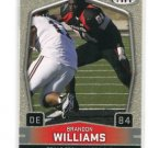 BRANDON WILLIAMS 2009 Sage Hit #85 SILVER SP ROOKIE Texas Tech Red Raiders