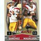 MARK SANCHEZ & REY MAUALUGA 2009 Sage Hit #57 Teammates ROOKIE USC Trojans NY Jets QB