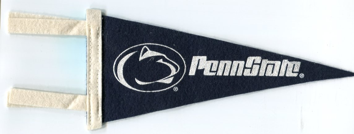 """Vintage looking PENN STATE Nittany Lions Small Felt Pennant 11.5"""" x 4"""""""
