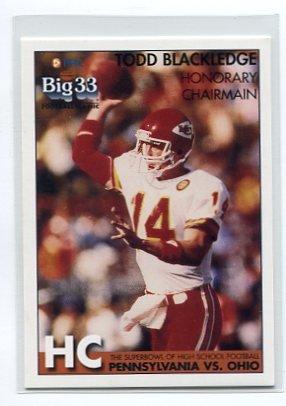TODD BLACKLEDGE 2008 Big 33 OHIO High School Chairman PENN STATE Kansas City KC Chiefs QB