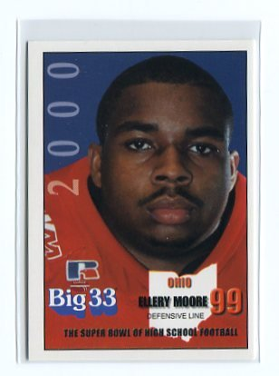 ELLERY MOORE 2000 Big 33 Ohio High School PENN STATE