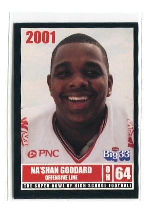 Na'SHAN GODDARD 2001 Big 33 Ohio High School card SOUTH CAROLINA Gamecocks SEC