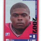 P.J. PJ POPE 2002 Big 33 Ohio High School card BOWLING GREEN Chicago Bears SEC