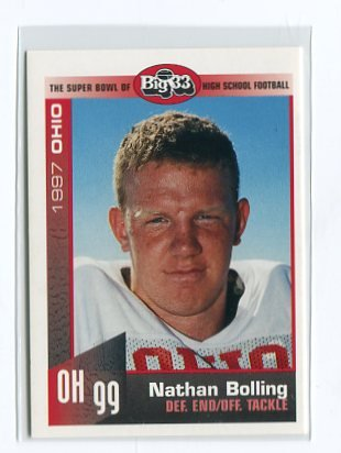 NATHAN BOILING 1997 Big 33 Ohio High School card WAKE FOREST Demon Decons