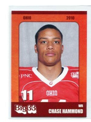 CHASE HAMMOND 2010 Big 33 Ohio High School card WISCONSIN Badgers WR