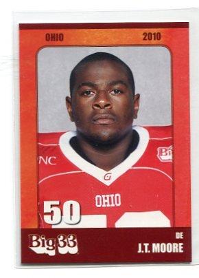 J.T. JT MOORE 2010 Big 33 Ohio High School card OHIO STATE Buckeyes DL / DE