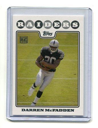 DARREN McFADDEN 2008 Topps #346 ARKANSAS Raiders ROOKIE
