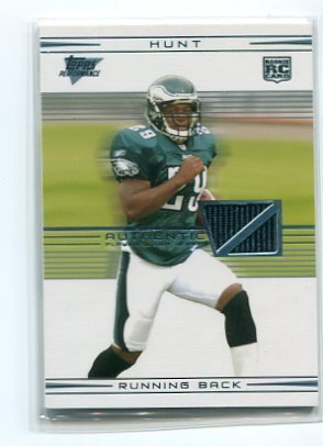 TONY HUNT 2007 Topps Performance ROOKIE JERSEY Penn State EAGLES #d/30