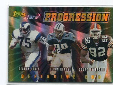 COURTNEY BROWN 2000 Topps Stars Progression #P2 ROOKIE INSERT Penn State BROWNS