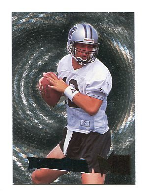 KERRY COLLINS 1995 Fleer Metal Silver Flasher #9 ROOKIE INSERT Penn State CAROLINA Panthers QB