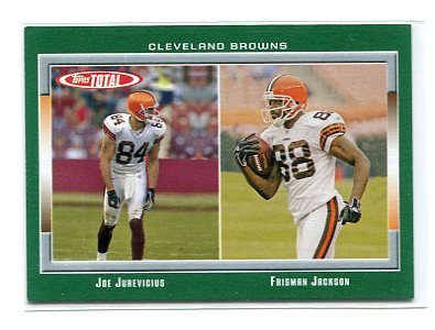 JOE JUREVICIUS / FRISMAN JACKSON 2006 Topps Total #353 Penn State Nittany Lions BROWNS