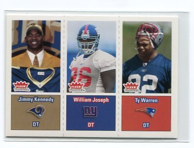 JIMMY KENNEDY 2003 Fleer Tradition #288 Penn State RAMS Rookie