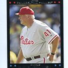 MANAGER COACH CHARLIE MANUEL 2007 Topps #251 Philadelphia Phillies