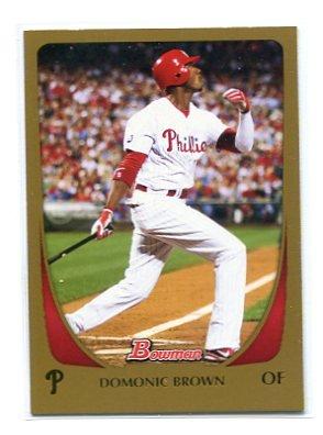 DOMINIC DOMONIC BROWN 2011 Bowman GOLD SP #15 Phillies