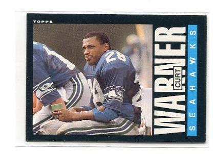 CURT WARNER 1985 Topps #392 Penn State SEAHAWKS