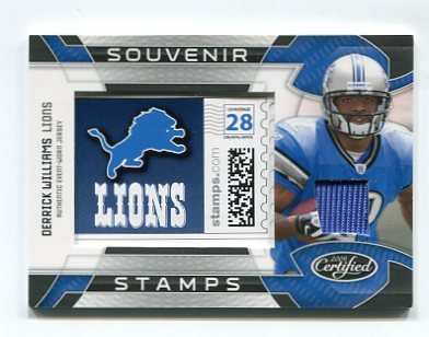 DERRICK WILLIAMS 2009 Leaf Certified Souvenir Stamps JERSEY ROOKIE Penn State LIONS #d/99
