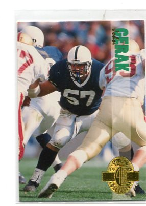 JOHN GERAK 1993 Classic Four Sport Collection #102 Rookie PENN STATE Nittany Lions