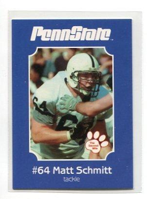 MATT SCHMITT 2001 Penn State Second Mile College Card OT