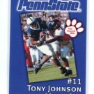 TONY JOHNSON 2002 Penn State Second Mile college card PRE-ROOKIE