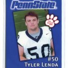TYLER LENDA 2002 Penn State Second Mile College Card GUARD